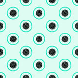Seamless circle dots background. Seamless circle dots textured background Royalty Free Stock Photos