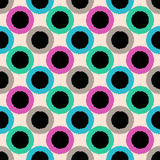 Seamless circle dots colorful pattern Royalty Free Stock Image