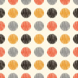 Seamless circle dots fabric pattern Royalty Free Stock Images