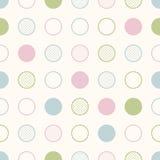 Seamless circle dots fabric pattern Royalty Free Stock Photography