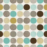 Seamless circle dots pattern Stock Image