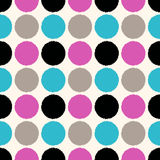 Seamless circle dots pattern Royalty Free Stock Photography