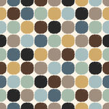 Seamless circle dots textured pattern Stock Image