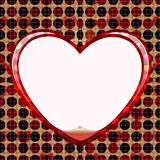Seamless circle of love card Stock Image