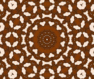 Seamless circle ornament dark brown and beige netting Royalty Free Stock Images