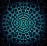 Seamless circle ornament turquoise blue black Royalty Free Stock Photos