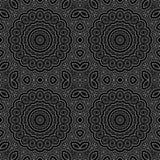 Seamless circle ornamental pattern background Stock Image