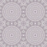 Seamless circle ornamental pattern background Royalty Free Stock Photography