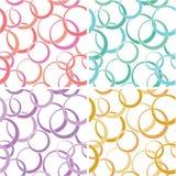 Seamless circle pattern vector illustration