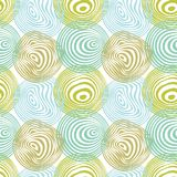 Seamless circle pattern. Circles pattern in fashion trend colors Stock Image