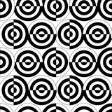 Seamless circle pattern. Retro black and white seamless circle background Stock Photo