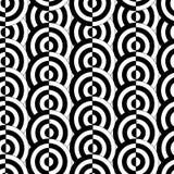 Seamless circle pattern. Retro black and white seamless circle background Stock Image
