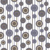 Seamless circle pattern. Circles pattern with abstract flowers Stock Photos