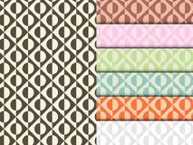 Seamless Circle Pattern Colorful Set Vector Stock Photos