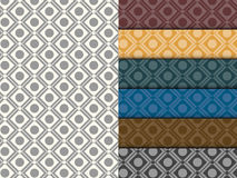 Seamless Circle Pattern Colorful Set Royalty Free Stock Images