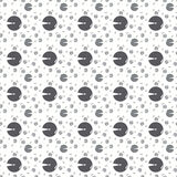 Seamless Circle Pattern. Vector Abstract Background Royalty Free Stock Image