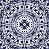 Seamless circle pattern white dark blue Royalty Free Stock Images