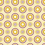 Seamless circle pattern. Seamless yellow and pink circle pattern Stock Photo