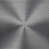 Seamless Circle Perforated Metal Grill Texture vector illustration