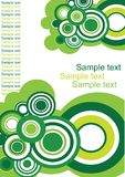 Seamless circle retro pattern. With space for text vector illustration