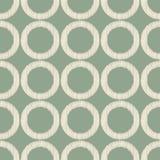 Seamless circle ring scribble pattern Royalty Free Stock Photos