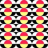 Seamless Circle and Stripe Pattern. Vector Regular Texture royalty free illustration
