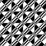 0040-26. Seamless Circle and Triangle Pattern. Abstract Black and White Background vector illustration