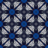 Seamless circle vintage flower pattern Stock Images