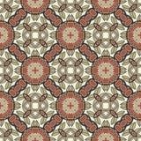Seamless circle vintage flower pattern Royalty Free Stock Images