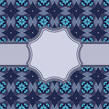 Seamless circle vintage flower pattern Royalty Free Stock Image