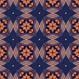 Seamless circle vintage flower pattern Royalty Free Stock Photo