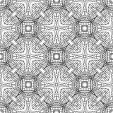 Seamless circle vintage flower pattern Stock Photography