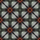 Seamless circle vintage flower pattern background Royalty Free Stock Photo
