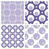 Seamless Circle Wallpaper. Four different seamless circle wallpapers. The color and the geometry gives a retro feeling Royalty Free Stock Photos