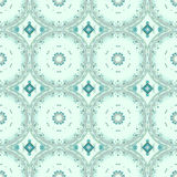 Seamless circles and diamond pattern pastel green gray. Abstract geometric seamless retro background. Regular circles and diamond pattern in pale green and light Stock Photo