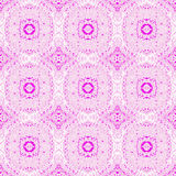 Seamless circles and diamond pattern pink white violet. Abstract geometric seamless background. Regular circles and diamond pattern pink with white and violet Stock Photo