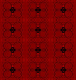 Seamless circles and diamond pattern red dark brown Stock Photography