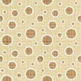 Seamless circles and dots pattern canvas vector illustration