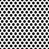 Seamless circles, dots pattern. Seamlessly repeatable polka dot. Background. Black and white versions  - Royalty free vector illustration Stock Images
