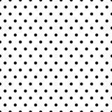 Seamless circles, dots pattern. Seamlessly repeatable polka dot. Background. Black and white versions  - Royalty free vector illustration Stock Image