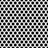 Seamless circles, dots pattern. Seamlessly repeatable polka dot. Background. Black and white versions  - Royalty free vector illustration Royalty Free Stock Images