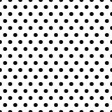 Seamless circles, dots pattern. Seamlessly repeatable polka dot. Background. Black and white versions  - Royalty free vector illustration Royalty Free Stock Image