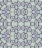 Seamless circles and ellipses pattern light gray blue purple Stock Photo