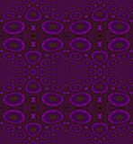 Seamless circles and ellipses pattern violet purple olive green. Abstract geometric seamless background. Various circles and ellipses pattern in violet and Stock Image