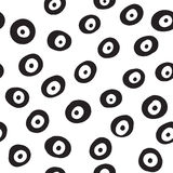 Seamless circles hand drawn pattern. Can be used for textile, website background Royalty Free Stock Photo