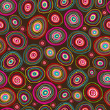 Seamless circles hand-drawn pattern Royalty Free Stock Photos
