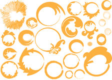 Seamless circles with isolate. Seamless orange circles colour with isolate background Stock Image