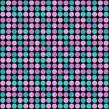 Seamless circles modern abstract pattern on black royalty free illustration