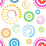 Seamless circles pattern Stock Image