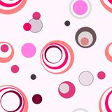 Seamless circles pattern. Abstract background stock illustration